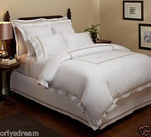 """MADISON HOME"" 500-Thread-Count 100% Cotton Hotel Stitch Sateen Sheet Set-QUEEN"