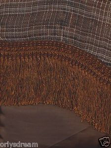 "New Elegant Curtain / Drape Set + Valance + Backing + Tie Backs ""Marisol"" BROWN"
