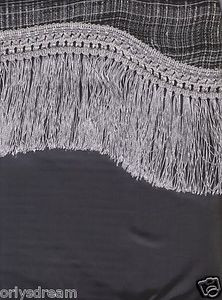 "New Elegant Curtain / Drape Set + Valance + Backing + Tie Backs ""Marisol"" SILVER"
