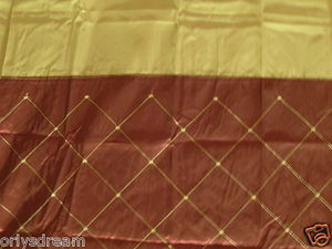 "Embroidery Polyester Fabric Shower Curtain ""DIAMOND"" - BURGUNDY & Gold colors"