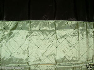 "Embroidery Polyester Fabric Shower Curtain ""DIAMOND"" - SAGE Green & Black colors"