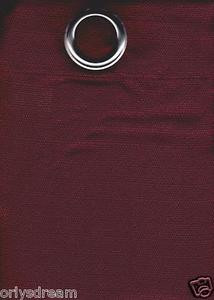 2 Panels Grommet Polyester Curtain Drape Window Covering Panel New - BURGUNDY