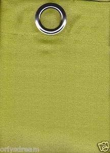 2 Panels Grommet Polyester Curtain Drape Window Covering Panel New - Solid GREEN