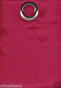 2 Panels Grommet Polyester Curtain Drape Window Covering Panel New - Solid PINK