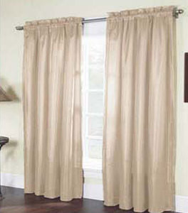 "Solid Thermal Insulated, 2 Panels Rod Pocket  Blackout Curtain  84""L - IVORY"