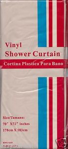 "NEW Vinyl Shower Curtain Liner 70"" x 72"" (178cm x 183cm) With Magnets - BEIGE"