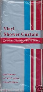 "NEW Vinyl Shower Curtain Liner 70"" x 72"" (178cm x 183cm) With Magnets-LIGHT BLUE"