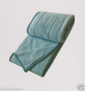 KING Soft BORREGO Suede/Wool Style QUILTED Micro Fiber Blanket/Throw-LIGHT GREEN