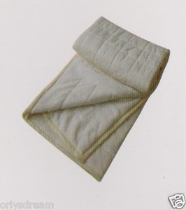 KING Soft BORREGO Suede/Wool Style QUILTED Micro Fiber Blanket/Throw - BEIGE