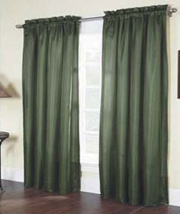 "Solid Thermal Insulated Back 2 Panels Rod Pocket  Blackout Curtain  84""L - OLIVE"