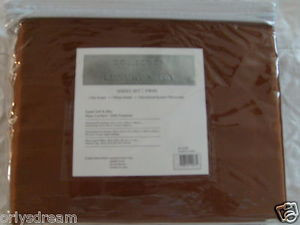 "Luxury Soft ""Silk"" / ""Silky"" 3 Pc. TWIN Size Bed Satin Sheet Set - Solid Brown"