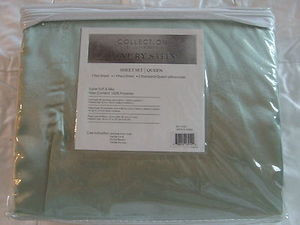 "Luxury Soft ""Silk"" / ""Silky"" 4 Pc. QUEEN Size Bed Satin Sheet Set - Sage Green"