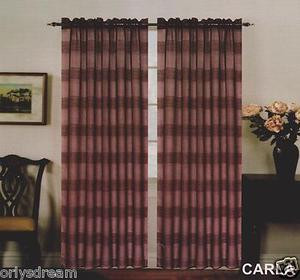 "New Premier Collection Elegant 2 Panels Curtain / Drape Set ""Carla"" - BROWN"