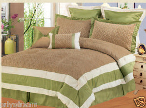 Queen size Bed in a Bag 8 pc. Comforter / Bedding Set / Bed Ensemble - SAGE