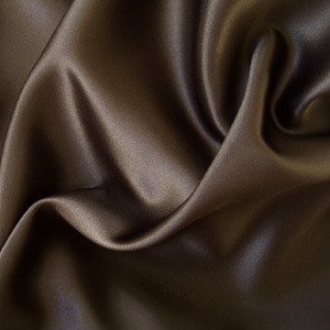 "SOFT ""SILK"" SATIN / SATEEN PILLOW CASE / COVER - BROWN"