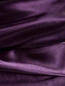 "SOFT ""SILK"" SATIN / SATEEN PILLOW CASE / COVER - PURPLE"