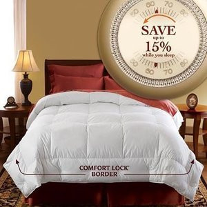 "Pacific Coast Luxury Year Round Oversized Down Comforter Queen/Full 90""x98""- NEW"
