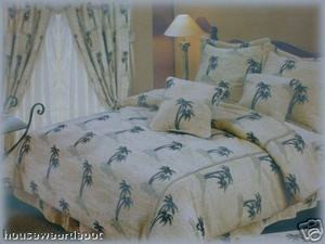 Palm Tree PALMTREE QUEEN jacquard 7 pc. COMFORTER set
