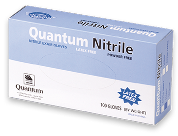 Quantum White Nitrile, $10.95 per 100 gloves, 10 boxes of 100 per case