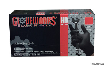 Gloveworks® HD Black Nitrile Industrial Glove, $14.95 per 100 gloves, 10 boxes of 100 per case