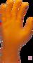 SW Color-Q Powder-Free Orange/White Nitrile Exam Glove