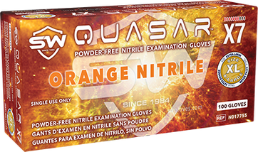 Quasar X7 Nitrile Powder-Free Exam Gloves, $10.51 per 100 gloves, 10 boxes of 100 per case