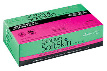 Quantum SoftSkin PF Latex with Aloe Vera and Vitamin E, $8.97 per 100 gloves, 10 boxes of 100 per case