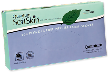 Quantum SoftSkin Nitrile Hint-of-Mint, $7.47 per 100 gloves, 10 boxes of 100 per case