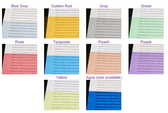 Individual Colored Overlays