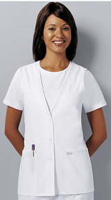 Cherokee Lace Trimmed Vest For Nurses