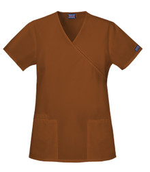 Cherokee Workwear : Mock Wrap Scrub Top For Women*
