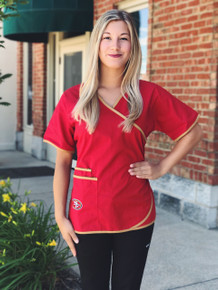 San Francisco 49er's Women's NFL Scrub Top