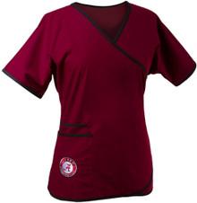 Alabama Crimson Tide Women's Mock Wrap Scrub Top