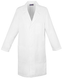 "Cherokee Unisex 40"" Lab Coat in White 1346"