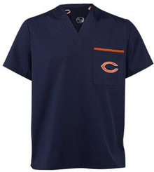 Chicago Bears V Neck Scrub Top