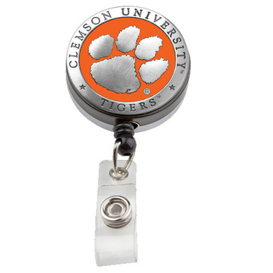 Clemson Retractable Badge Reel