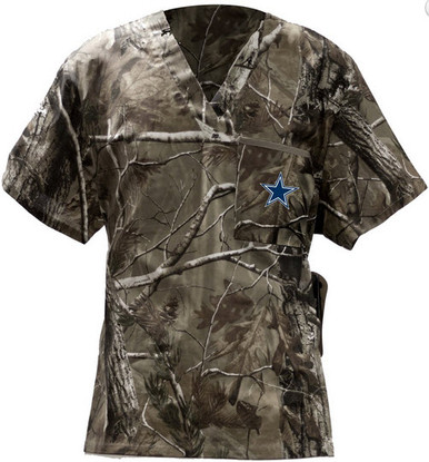 a783b738bb7 Dallas Cowboys Real Tree Men's NFL Scrub Top - Scrub Identity