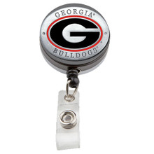 Georgia Bulldogs Retractable Badge Reel