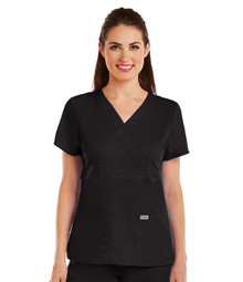 Grey's Anatomy : 3 Pocket Mock Wrap Scrub Top for Women*