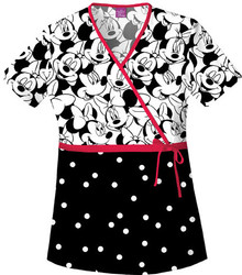 Minnie Mouse Scrub Top For Women - Big Minnie Scrub Top