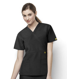 WonderWink Origins : Mock Wrap Scrub Top 6056 For Women*