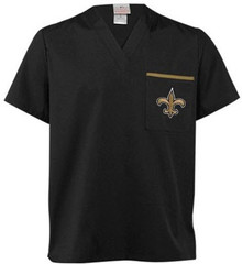 New Orleans Saints V Neck NFL Scrub Top