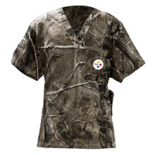 Pittsburgh Steelers Men's NFL Real Tree Scrub Top