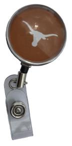 Texas Longhorns Orange Retractable Badge Reel