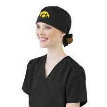 University of Iowa Hawkeyes Black Scrub Cap for Women