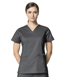 WonderWink WonderFLEX: Verity V Neck Scrub Top For Women 6108*
