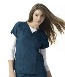 WonderWink Four-Stretch : Sporty V Neck Scrub Top  For Women*