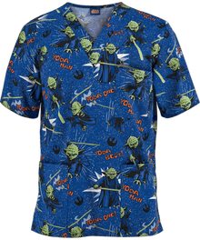Star Wars Yoda V Neck Scrub Top