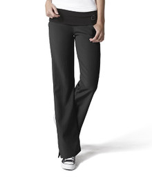 WonderWink Four-Stretch : Fold Over Knit Waist Scrub Pant For Women*