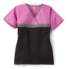 WonderWink Origins : Tri Charlie 6026 Mock Wrap Scrub Top For Women - PPB